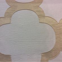 Жатая ткань с крупным орнаментом Alicante 24. Италия, портьерная. Бежево-золотистый фон