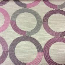 Ткань в стиле модерн с кругами розового, сиреневого, серого оттенков  Paloma 38. Испания, Европа, портьерная ткань для штор.