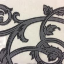 Итальянская ткань в Москве Fausta 39. Италия, Европа, тюль. Органза с нанесением растительного монохромного принта