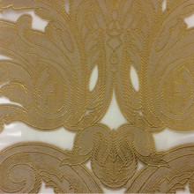 Ткань для штор органза с нанесением атласного принта бронзового оттенка Fausta 47. Италия, Европа, тонкий тюль.