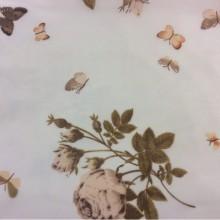 Ткань из шифона с цветами и бабочками в стиле кантри, прованс 2401/21. Италия, Европа, тюль