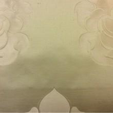 Льняная ткань для штор в стиле арт-деко 2358/25, итальянский каталог ткани. Европа, Италия, портьерная. Бежевый фон, золотистый орнамент