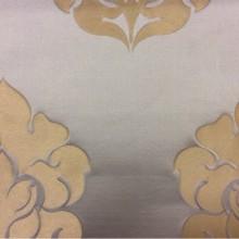 Шикарная ткань из льна и атласа 2358/45. Италия, Европа, портьерная ткань для штор. Бледно-голубой фон, золотистый орнамент