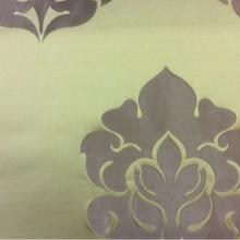 Дорогая атласная ткань в стиле арт-деко 2358/51. Италия, Европа, портьерная. Фон цвета хаки, бронзовый орнамент