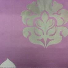 Купить дорогую атласную ткань с вышивкой в Москве 2358/44. Италия, Европа, портьерная. Фон цвета марсала, бронзовый орнамент