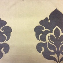 Льняная ткань в стиле барокко купить 2358/20. Европа, Италия, портьерная ткань средней плотности. Бронзовый фон, орнамент цвета венге