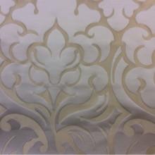 Ткань люкс в стиле арт-деко 2366/21. Италия, Европа, портьерная. Бежевый фон, ванильный орнамент