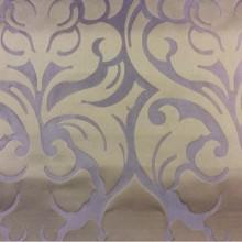 Ткань с крупным узором из Италии 2366/43. Европа, Италия, портьерная. Фиолетовый фон, шоколадный орнамент