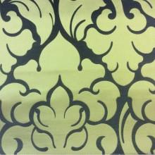 Купить итальянскую ткань в Москве в стиле арт-деко 2366/22. Европа, Италия, портьерная. Фон цвета венге, золотой орнамент