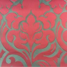 Ткань итальянского производства 2366/30. Европа, Италия, портьерная. Бронзовый фон, красный орнамент