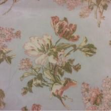 Тонкая сетка с ярким цветочным принтом, голубой фон 2415/45. Италия, Европа, тюлевая ткань
