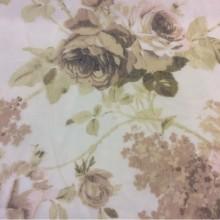 Тонкая сетка с цветочным принтом, полупрозрачный фон 2407/21. Италия, Европа, тонкий тюль