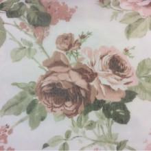 Тонкая сетка с ярким цветочным принтом, полупрозрачный фон 2407/23. Италия, Европа, тюль