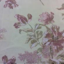 Ткань тонкая сетка с ярким цветочным принтом, фон жёлтый 2415/21. Тюль, Италия, Европа