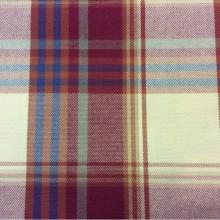Купить ткань из льна и хлопка в Москве Scotland, col 15. Европа, Испания, портьерная. Орнамент «шотландская клетка» красного, жёлтого, синего оттенков