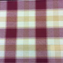 Натуральная ткань с добавлением хлопка и льна Favola, col 15. Испания, Европа, портьерная. Орнамент «шотландская клетка» красного, жёлтого, кремового оттенков