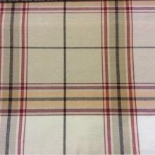 Купить ткань в шотландскую клетку в Москве Bristol, col 09. Испания, Европа, портьерная, тонкая ткань для штор. Орнамент «шотландская клетка» красного, бежевого, персикового оттенков