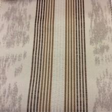 Плотная ткань с добавлением хлопка в стиле минимализм Aquamarine, col 25. Европа, Испания, портьерная. На сером фоне вертикальные полосы коричневых оттенков