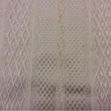 Ткань в  стиле ампир, барроко с геометрическим рисунком Арт: 1320F, col 9. Италия, Европа, портьерная. Чередование полос с мелким ромбом золотисто-кремовых оттенков