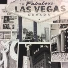 Ткань с Лас-Вегасом, Тефлоновая ткань с хлопковой нитью и креативным изображением рисунка Las Vegas, col 05. Испания, портьерная, скатертная ткань. Монохромные оттенки