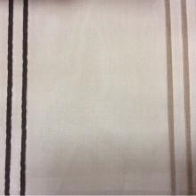 Итальянская тонкая тюлевая ткань в оригинальную полоску (органза) Palmyra, col 36. Европа, Италия. На чёрном фоне чередование шоколадных и цвета каппучино вертикальных полос