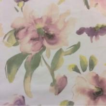 Купить ткань с акварельными цветами 2494/33. Италия, тюль. На полупрозрачном фоне «размытые» цветы ( микс, акварель)