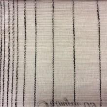 Заказать полупрозрачную тюль в Москве Palmyra, col 08. Италия, тюль. На серо-бежевом фоне вертикальные хаотичные чёрно-бежевые полосы