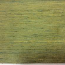 Дикий шёлк с узелками в Мск Gabriella, col 050. Индия, портьерная ткань. Золотистый с зеленью, меланж