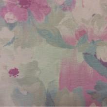 Натуральная ткань из хлопка в интернет-магазине Москвы Andy, col 1063. Турция, портьерная. На светлом фоне размытые цветы