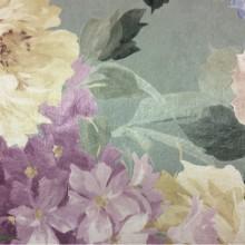 Купить ткань с крупными (большими) цветами в интернет-магазине, турецкий каталог ткани Georgia, col 1159. Портьерная ткань из атласа