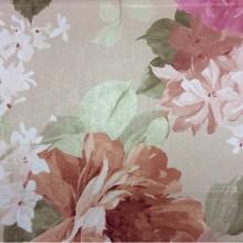 Ткань с крупными яркими цветами и листьями из атласа в стиле кантри, прованс Georgia, col 1162. Турция, портьерная ткань для штор