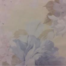 Тонкая тюлевая ткань из крепа, нежные размытые цветы в голубых, кремовых и розовых тонах Georgia Suit, col 1158. Турция, тюль