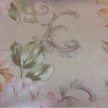 На светлом фоне нежные цветы в пастельных оттенках Joseph, col 1090. Турция, портьерная ткань из атласа.