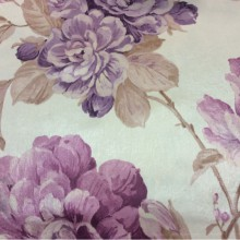 Очень красивая ткань в классическом стиле Michel, col 41. Турция, портьерная ткань из полиестера. На светлом фоне сиреневые, розовые цветы