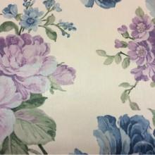 Ткань с цветами голубого и сиреневого оттенка из атласа в интернете Michel, col 52. Турция, портьерная.