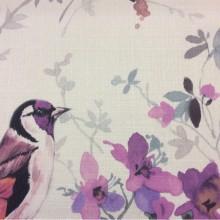 Ткань с красивыми птицами, акварель Almanzo, col V2. Турция, портьерная ткань