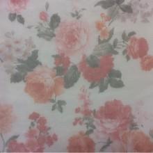 Тюль сетка в интернет-магазине Gabriel Suit, col 1542. Турция, тонкий тюль для штор. На прозрачном фоне цветочный орнамент