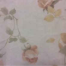 Тонкая тюлевая ткань оптом и в розницу в магазине (сетка) Capeinick Suit, col 1270. Турция, тюль. На прозрачном фоне розы в жёлтых оттенках