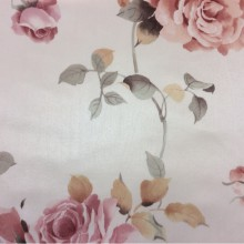 Атласная ткань для штор с розами в розовых оттенках Capeinick, col 1271. Турция, портьерная ткань