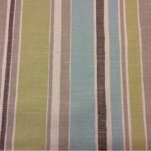 Купить портьерную ткань «под лён» с чередованием вертикальных полос серого, зелёного и голубого оттенков Earth Stripe, col 1046. Турция