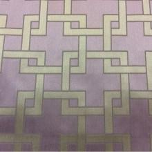 Портьерная ткань в современном стиле Арт: 2547/43. Высота, ширина 3,05 метра. Италия, каталог ткани. Геометрический рисунок в оттенках цвета аметист и бронзы