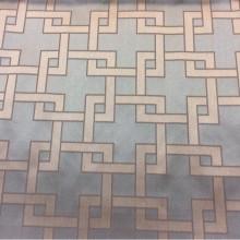Портьерная ткань в современном стиле Арт: 2547/73. Высота, ширина 3,05 метра. Ткань из итальянского каталога. Геометрический рисунок в бирюзовых и золотистых оттенках