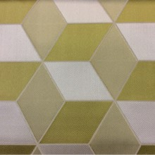 Портьерная ткань в современном стиле с эффектом 3D Арт: 2544/53. Высота, ширина 3,05. Итальянский каталог. Геометрический рисунок в оливковых, ванильных оттенках и цвета хаки