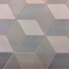 Купить ткань с геометрическим рисунком в серых и голубых оттенках Арт: 2544/71. Высота, ширина 3,05 метра. Итальянский каталог ткани