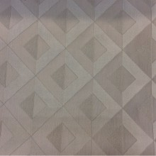 Атласная ткань для гостиной, спальни, студии, кухни, кабинета Арт: 2538/61. Итальянский каталог. Геометрический рисунок в серых оттенках