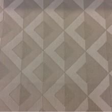 Портьерная атласная ткань в современном стиле с хлопковой нитью Арт: 2538/17. Итальянский каталог. Геометрический рисунок в ванильно-бежевых тонах