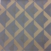 Заказать ткань с геометрическими рисунками в бежево-голубых оттенках Арт: 2538/71. Итальянский каталог.