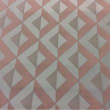 Портьерная атласная ткань в современном стиле с хлопковой нитью Арт: 2538/73. Итальянский каталог ткани. Геометрический рисунок в оттенках цвета морской волны и цвета какао