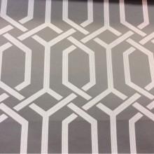 Новинка этого года, атласная ткань для штор Арт: 2528/29. Каталог итальянской ткани для штор. Геометрический рисунок в серых и светло-кремовых тонах