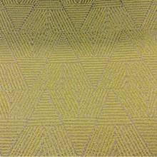 Заказать в интернете ткань для штор Арт: 2537/92. Фото ткани из итальянского каталога портьерной ткани. Геометрический рисунок горчичных оттенков и цвета бронзы